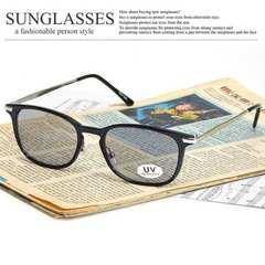 新品 ウォリントン型 サングラス メンズ レディース スモークレンズ 伊達眼鏡 SM79