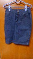�Bデニム風スカート