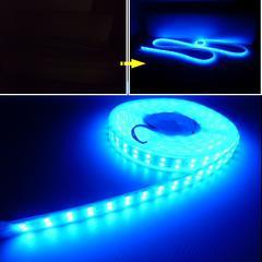 24V船舶漁船用/カバー付青色LEDテープライト航海灯・集魚灯/5M巻
