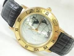 6309/稀少な世界地図ダイヤル★メンズ腕時計コレクターアイテムに〜格安出品