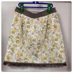 美品アプワイザー ローズプリントスパンコールスカート2