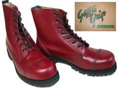 ゲッタグリップおでこ靴7ホール ブーツ新品7507CRスチール入uk9