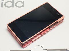 ◆安心保証◆新品即決◆au iida PLY ピンク◆白ロム