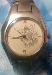 レア!!ガンダムGUNDAM日本製ステンレススチール腕時計シンプル女性にも