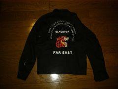 新品BTMCブラックトップ薄手シャツジャケット黒Sベトジャン刺繍