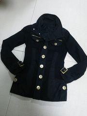 d.i.a.◆ダイアgoldゼブラロゴボタンジャケットコート黒