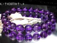 天然石★8ミリ高級アメジストAAA紫水晶数珠