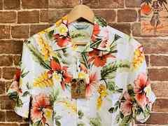 表記XL/新品!レーヨン100% 花柄 アロハシャツ 総柄 サーファー リゾート系 アメカジ