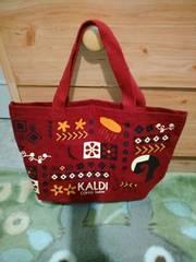KALDI カルディーコーヒー*2016年福袋*赤色ミニトートバッグ