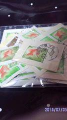 使用済み切手・ 紙付き 【金魚・33枚】