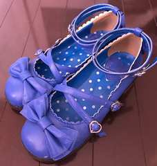 Tea Party Shoes アオ Mサイズ