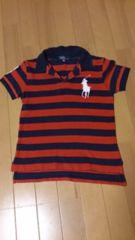 kids ラルフローレンビッグポニーポロシャツ赤紺ボーダー 120