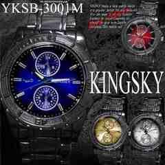 【新作/送料無料】KING SKYマットベゼル腕時計YKSB-3001M