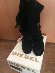 新品タグ付き ディーゼル DIESEL ブーツ 24�p ブラック 黒 牛革