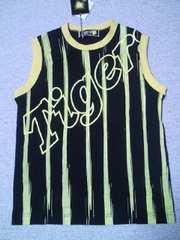 プロ野球 阪神 タイガース デザイン タンクトップ 半袖 Sサイズ ブラック イエロー
