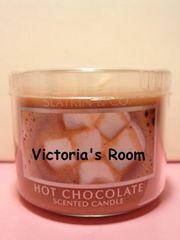 Bath&BodyWorksホットチョコレートアロマキャンドルミニサイズミルク濃厚チョコレート
