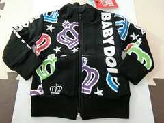 ♪新品 BABYDOLL スタンドジップジャケット 黒 80�p♪