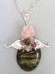 天使の癒し☆セラフィナイト☆ピンクの薔薇