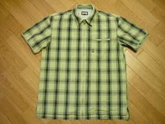 PPFM メンズF ジップアップ半袖シャツ ワークシャツ