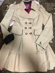 ハニーバンチ/パリスライン/ワンピ風トレンチコート春結婚式美品