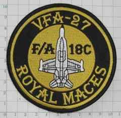 米海軍 VFA-27 ロイヤル メイス パッチ