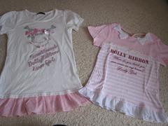 160ドーリーリボン☆ピンクTシャツ2枚セット♪