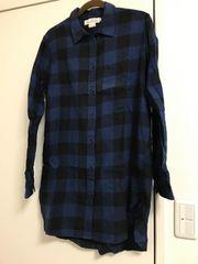 H&M ロングチェックシャツ f