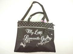 値下げセールメゾピアノjrリボンモチーフ&ロゴ刺繍斜めショルダーレッスントートバッグ