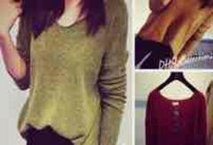 「新品」ゆるシルエット セーター 草色 フリーサイズ