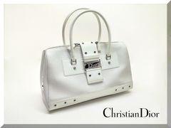 ☆Christian Dior ☆レザー ロゴプレートバッグ 送料無料