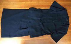 夏半袖スーツ   紺色  11号(11AR)    東京スタイル  MISSPARIS