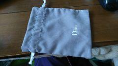 ディオール巾着ポーチグレーDiorバックロゴ新品