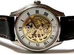 極レア 1スタ★SEIKO ALBA【スケルトン】スモセコ 美★腕時計
