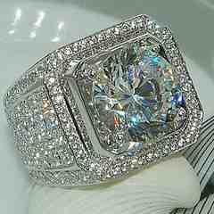 ◆◇豪華 AAAダイアモンド 重厚 リング18号 新品 送料無料