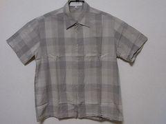 即決USA古着●PERRY ELLISチェックデザイン半袖シャツ!アメカジビンテージ