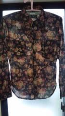 お洒落な薔薇柄のウエスタンシャツ 送料無料