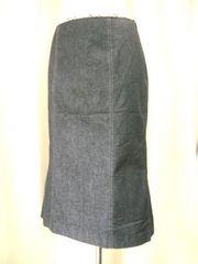 【バーバリーロンドン】黒デニムロングスカートです