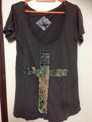★送料込み!可愛い♪カーキのクロスTシャツ(*'▽')Sサイズ★