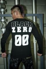 1000円スタート)BLACK ZERO「00」ロンT (Rebel