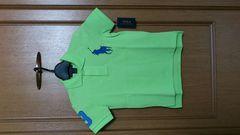 激安70%オフラルフローレン、ビックポニー、ポロシャツ(新品タグ、黄緑、5M)