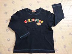 ミキハウス Tシャツ 100センチ 美品 紺 刺繍