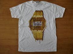 デジタル時計 Tシャツ L