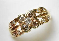 K18 ゴールド 合計 0.69ct ダイヤモンドリング 12号 指輪