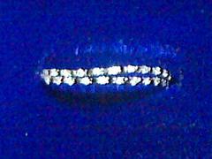 K18WG ダイヤ&ブラックダイヤ リング 0.2 1.3g 12号 新品仕上げ 送料無料
