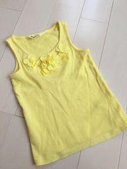 H&M*flowerタンクトップ*110〜/used