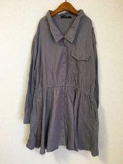 ((( mystic )))cottonシャツワンピース