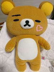 リラックマ/I LOVE リラックマ/XL/ぬいぐるみ/眉毛とハートカワイイ2011年/非売品