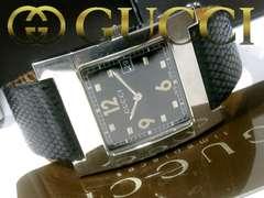 【箱・証明付】グッチ 定価13万 7700M【スイス製】メンズ腕時計