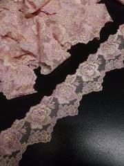 約5.5�p幅×3.5m・ピンク系チュールレース(��.5923)