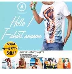 NEW♪人気の『GIRLSPHOTO』夏のTシャツ5色M-L